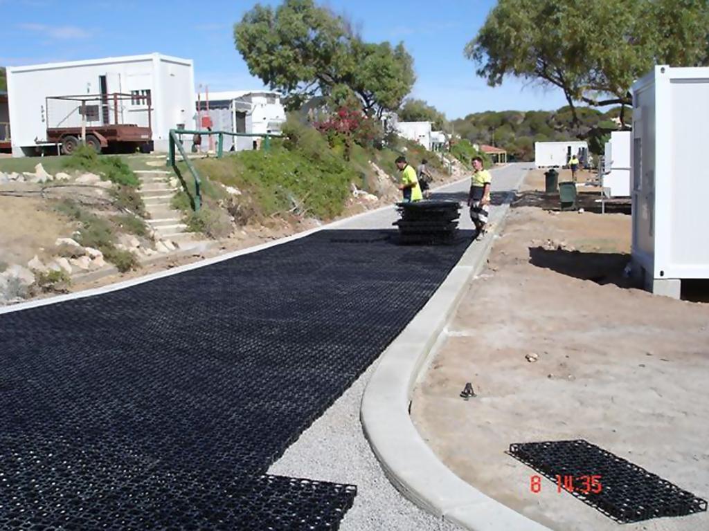 Drainage Gravel Cell : Gravel cell reinforcement grid atlantis corporation
