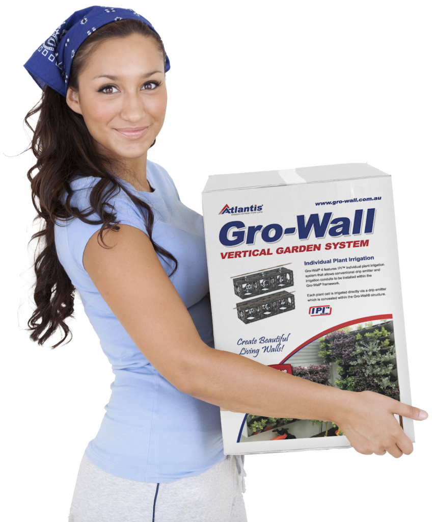Atlantis Gro-Wall® 4 Box Vertical Garden & Green Wall System