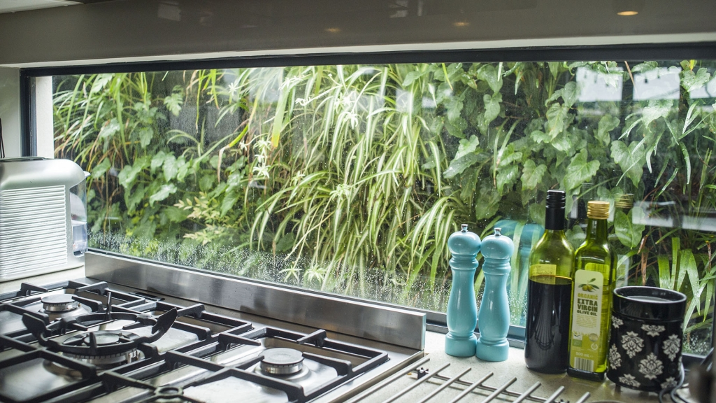 kitchen window gets a green wall view atlantis corporation. Black Bedroom Furniture Sets. Home Design Ideas
