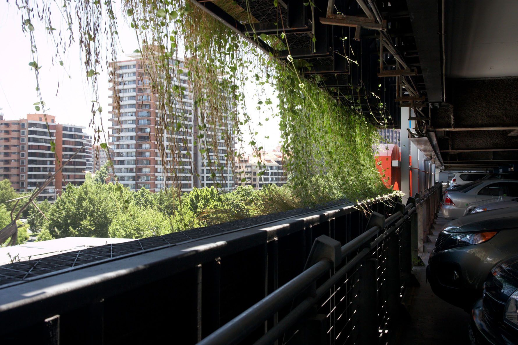 Atlantis Vertical Garden Installation On Multi Storey Car