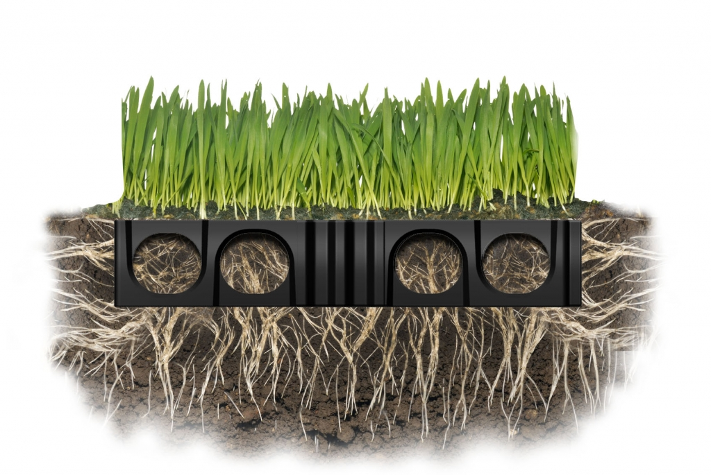Atlantis Turf Cell® grass reinforcement structure has excellent horizontal and vertical root growth.